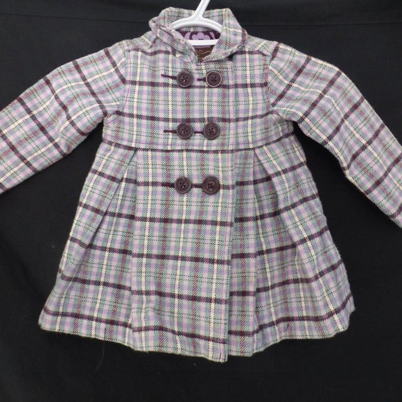 OLD NAVY, baby girl, 18-24 months, plaid coat